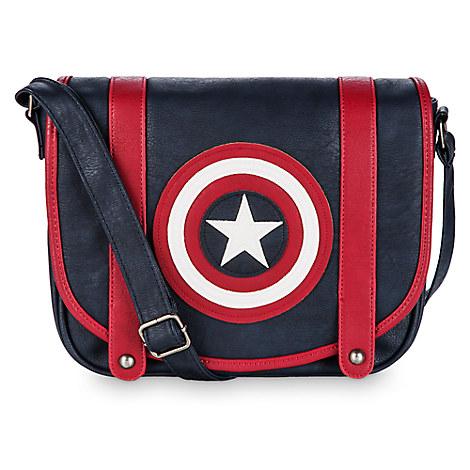 Captain America Crossbody Bag by Loungefly