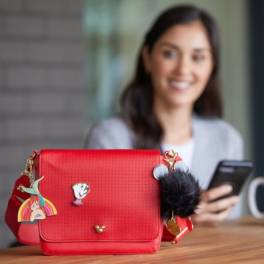 Mickey Mouse Icon Square Crossbody Bag – Red