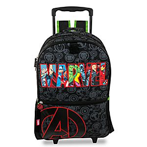 Disney Store Avengers Rolling Backpack  -  Personalizable