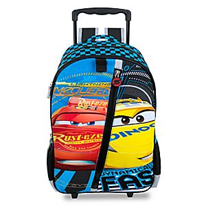Disney Store Cars 3 Rolling Backpack  -  Personalizable
