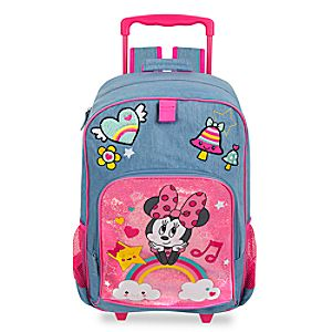 Disney Store Minnie Mouse Rolling Backpack  -  Personalizable