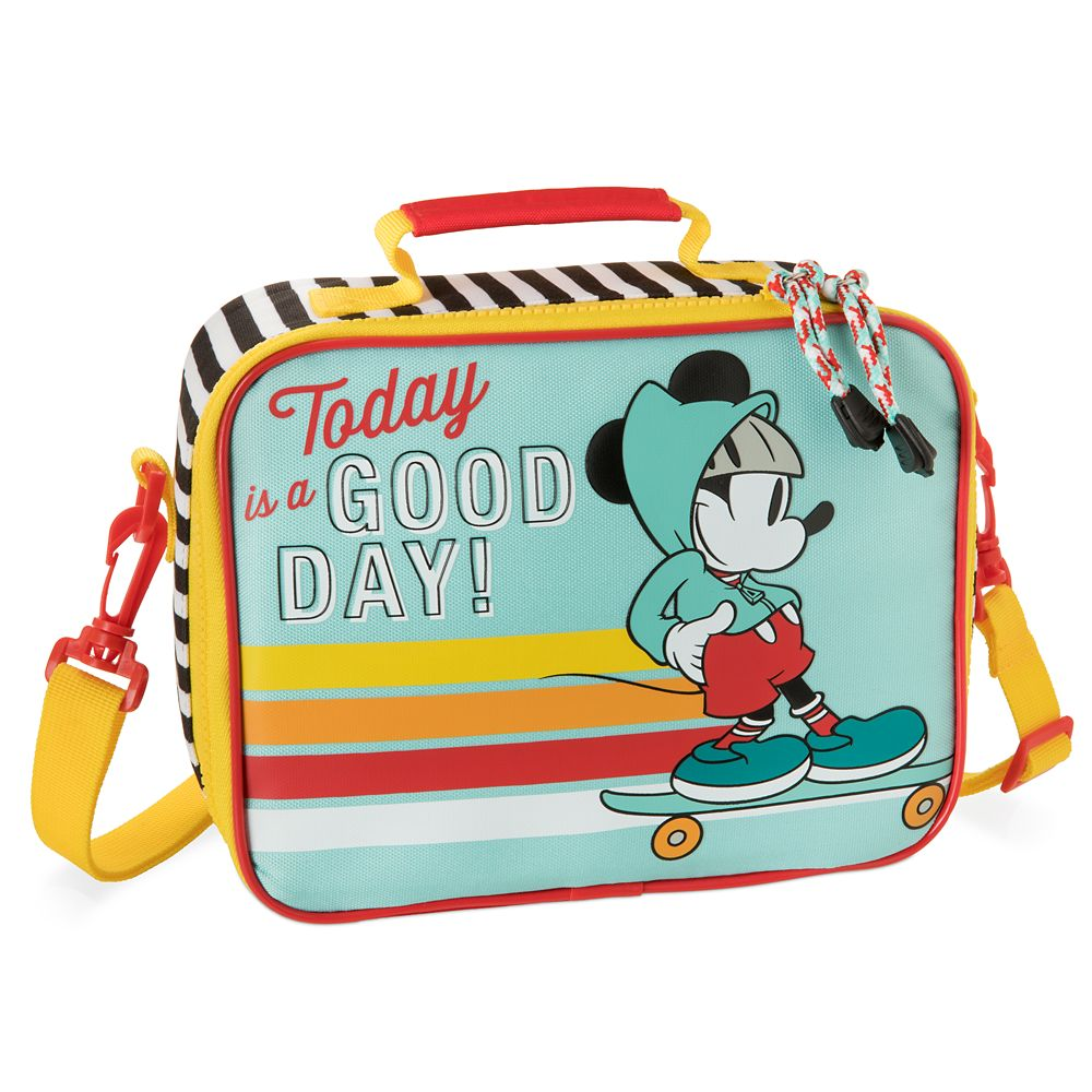 NEW! Mickey Mouse Back to School Lunch Bag with Adjustable Strap Insulated