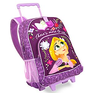 Disney Store Rapunzel Rolling Backpack  -  Tangled: The Series  -
