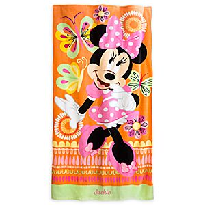 Minnie Mouse Clubhouse Beach Towel - Personalizable
