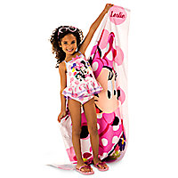 Minnie Mouse Happy Helpers Beach Towel - Personalizable