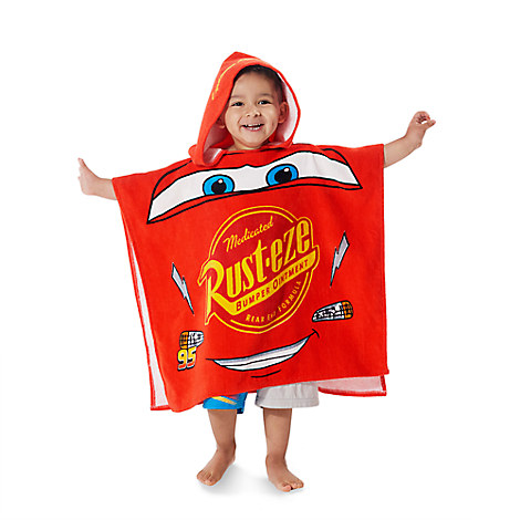 Lightning McQueen Hooded Towel for Kids - Personalizable