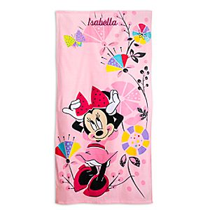 Minnie Mouse Beach Towel for Kids - Personalizable
