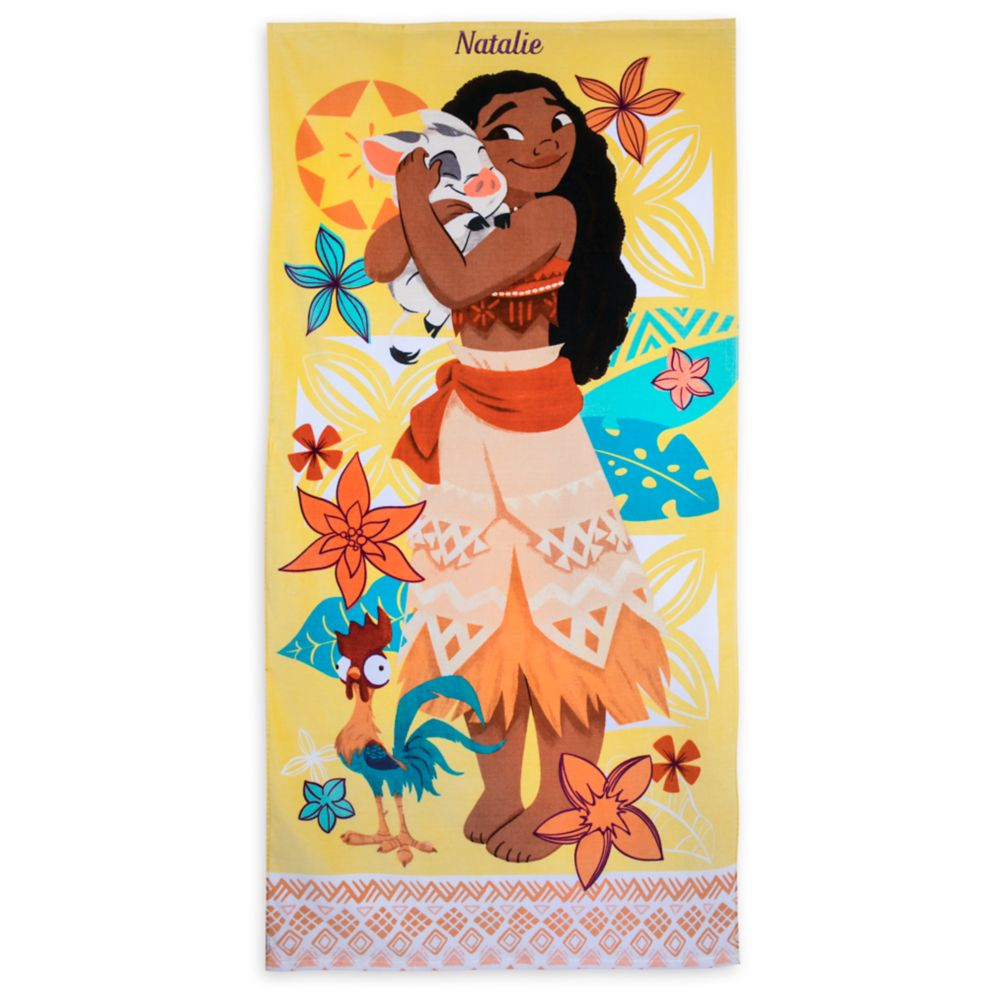 Moana Beach Towel – Personalizable