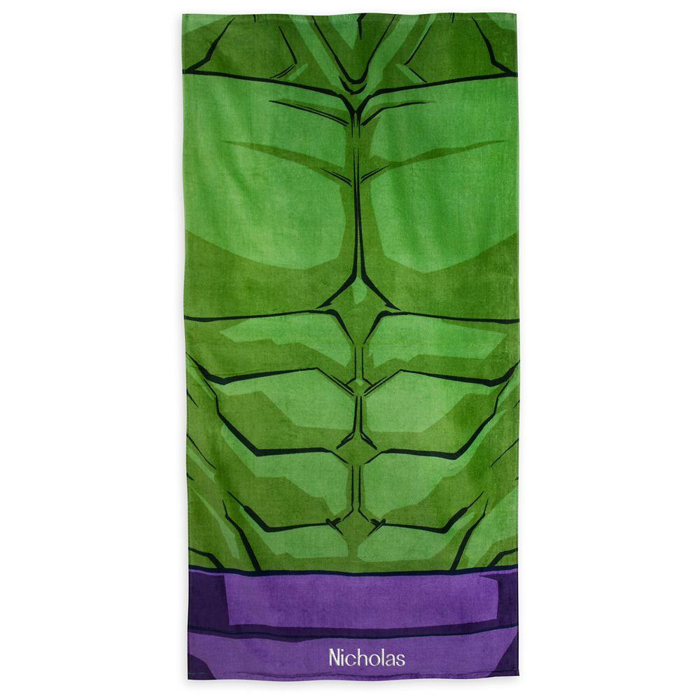 Hulk Beach Towel – Personalizable