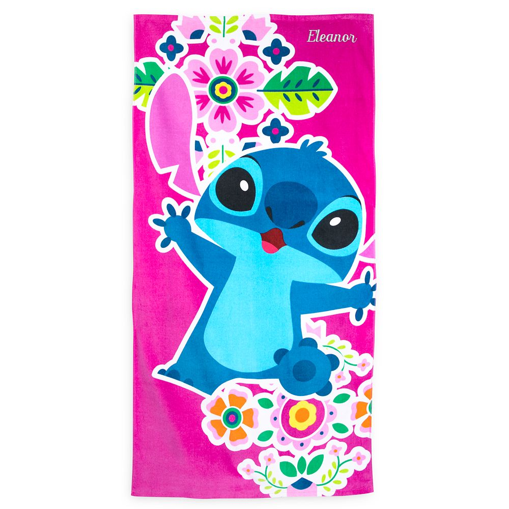 Stitch Beach Towel  Personalized Official shopDisney