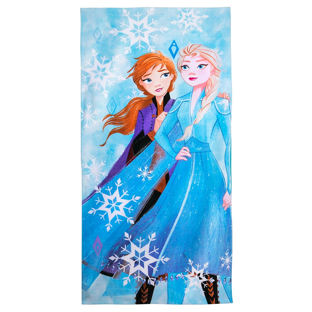 Anna and Elsa Beach Towel – Frozen 2 – Personalized
