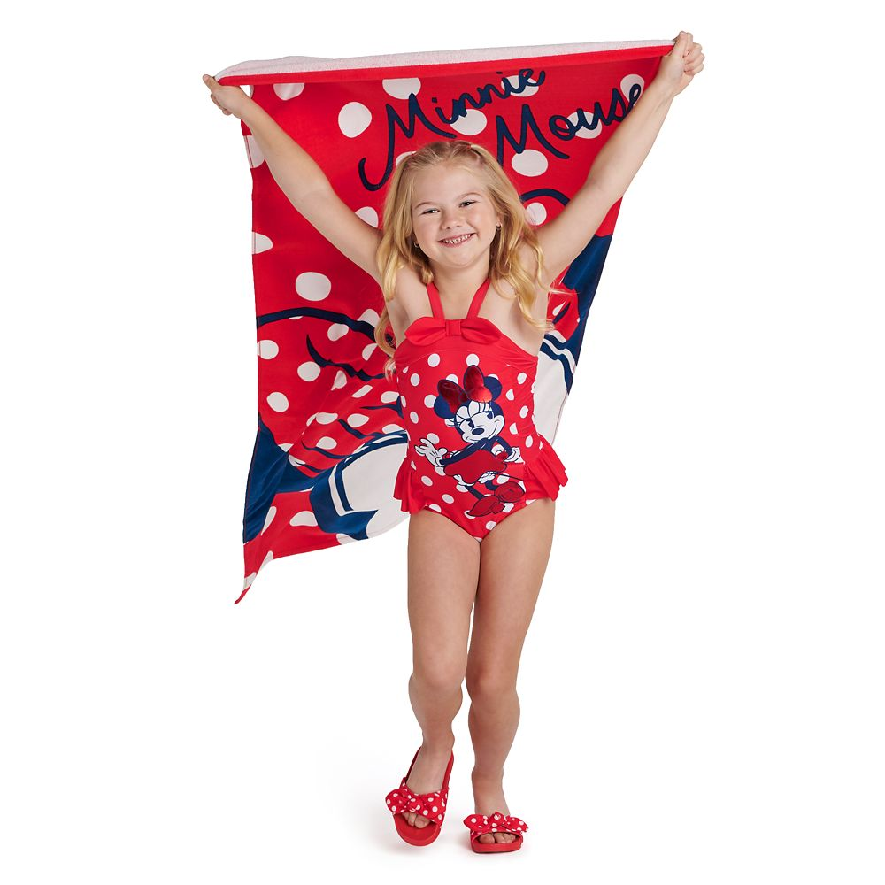 Minnie Mouse Red Beach Towel