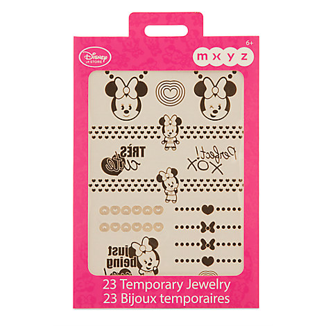 Minnie Mouse MXYZ Temporary Jewelry Pack