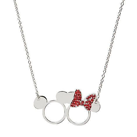 Mickey and Minnie Mouse Icon Necklace