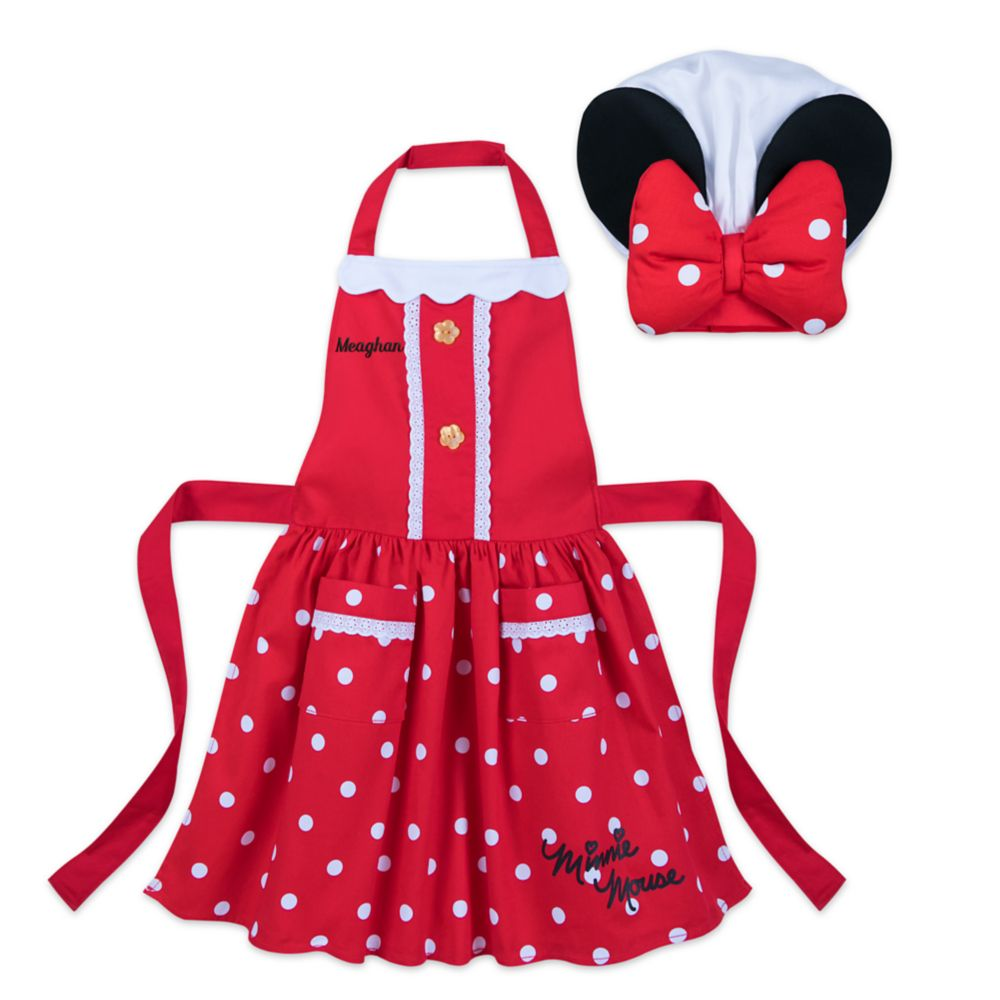 Minnie Mouse Signature Apron and Chefs Hat Set for Kids - Personalizable