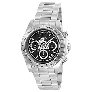 Mickey Mouse Speedway Chronograph Watch for Men by INVICTA - Black Dial - Limited Edition