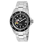 Mickey Mouse Pro Diver Watch for Men by INVICTA - Chrome Band - Limited Edition