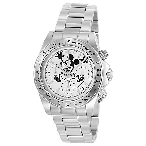 Mickey Mouse Speedway Chronograph Watch for Men by INVICTA - White Dial - Limited Edition