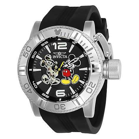 Mickey Mouse Corduba Watch for Men by INVICTA - Black Band - Limited Edition