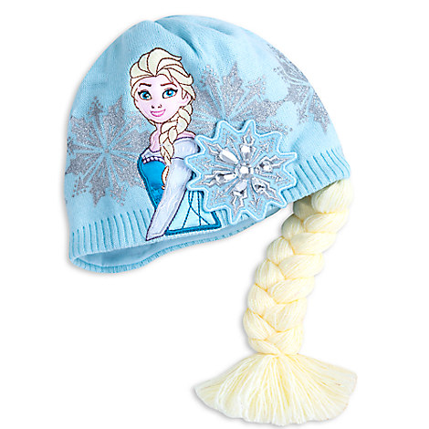 Frozen Winter Hat with Braid - Personalizable