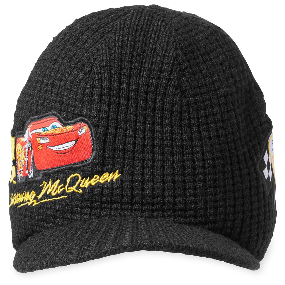 Lightning McQueen Knit Hat for Kids