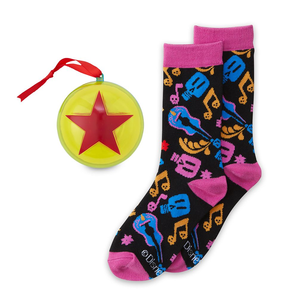 Coco Holiday Socks in Ornament for Adults