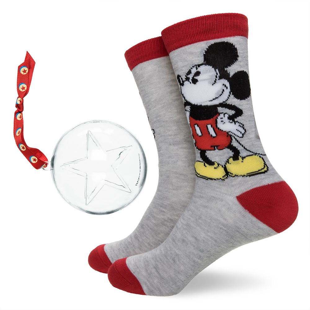 Mickey Mouse Socks in Ornament for Adults
