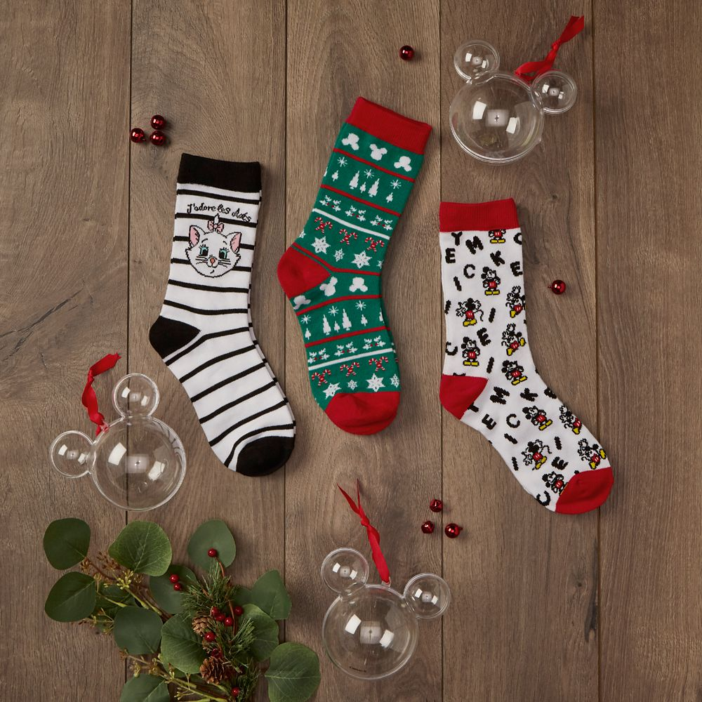 Mickey Mouse Icon Holiday Socks in Ornament for Adults