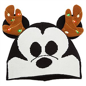 Mickey Mouse Holiday Light-Up Beanie - Adults