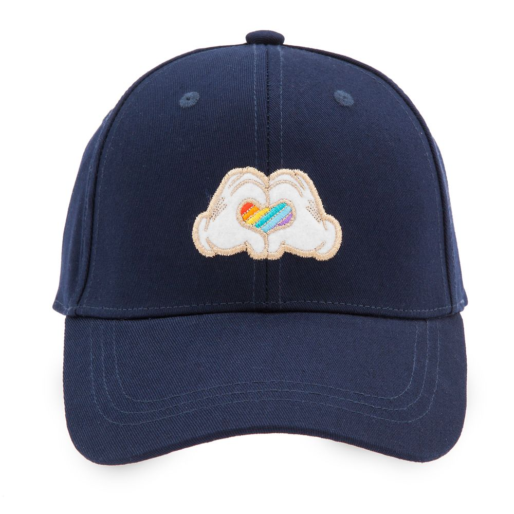 Rainbow Disney Collection Mickey Mouse Heart Hands Baseball Cap for Adults