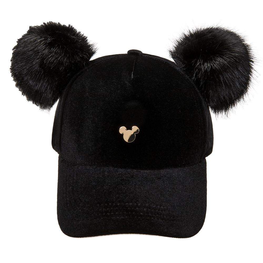 Mickey Mouse Pom Pom Ear Baseball Cap for Adults