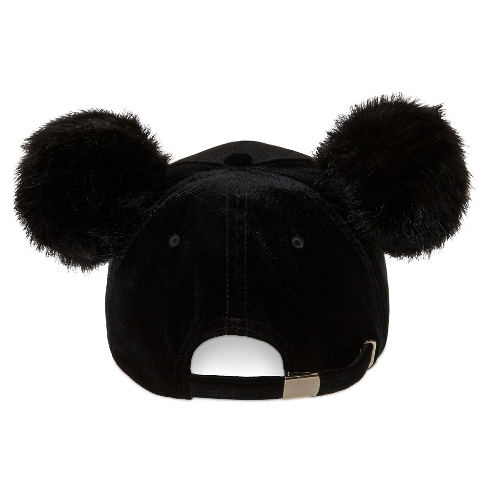 Mickey Mouse Pom Pom Ear Baseball Cap for Adults