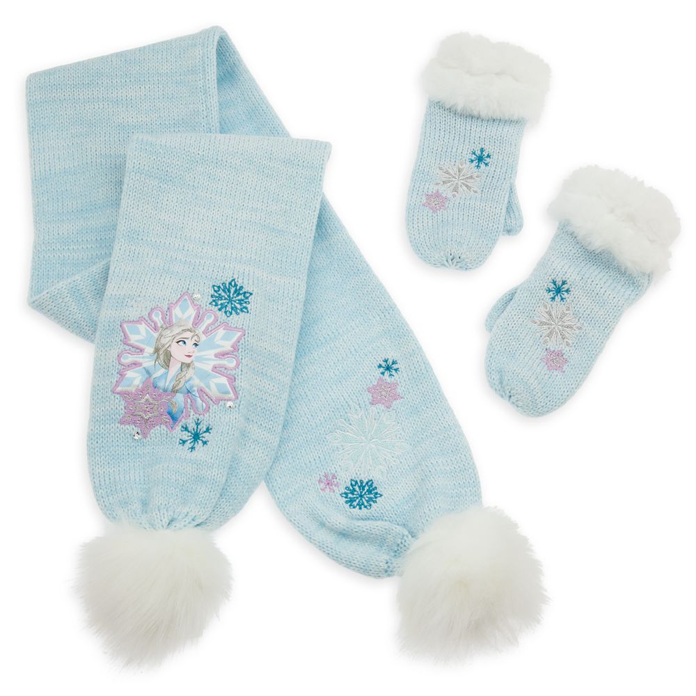 Elsa Scarf and Mitten Set – Frozen 2