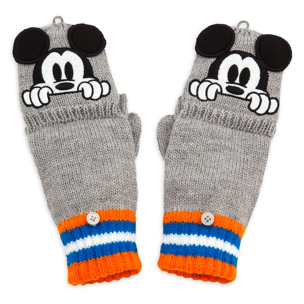 Mickey Mouse Convertible Gloves for Kids