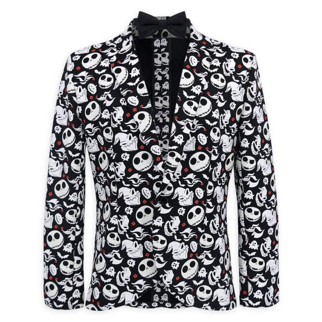 The Nightmare Before Christmas Glow in the Dark Half Suit and Light Up Tie for Adults