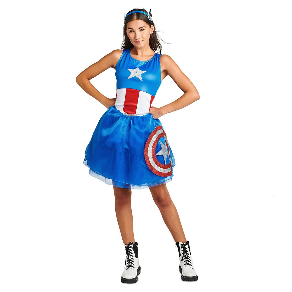 Captain America Tutu Dress Costume for Adults