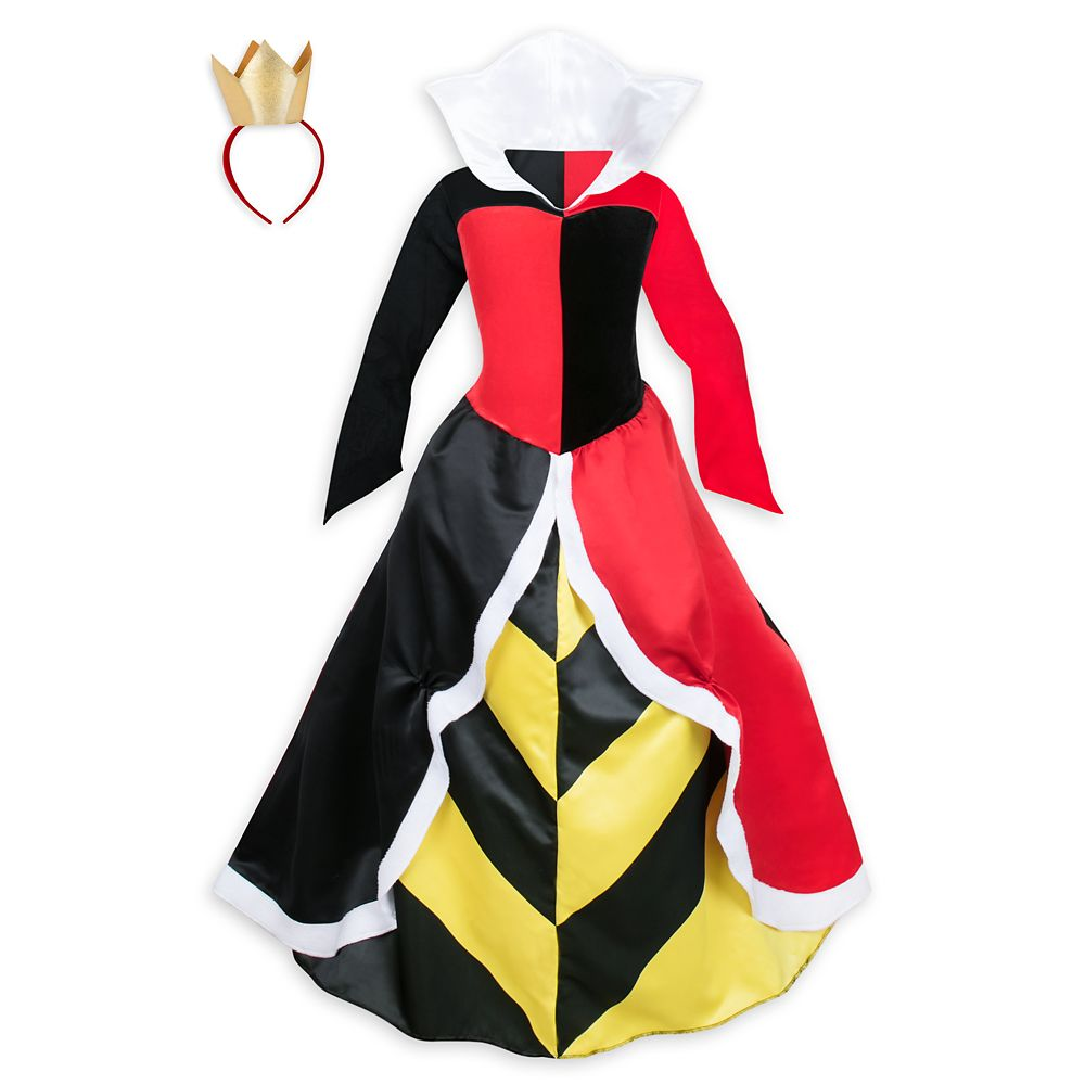 Queen of Hearts Deluxe Costume for Adults by Disguise – Alice in Wonderland