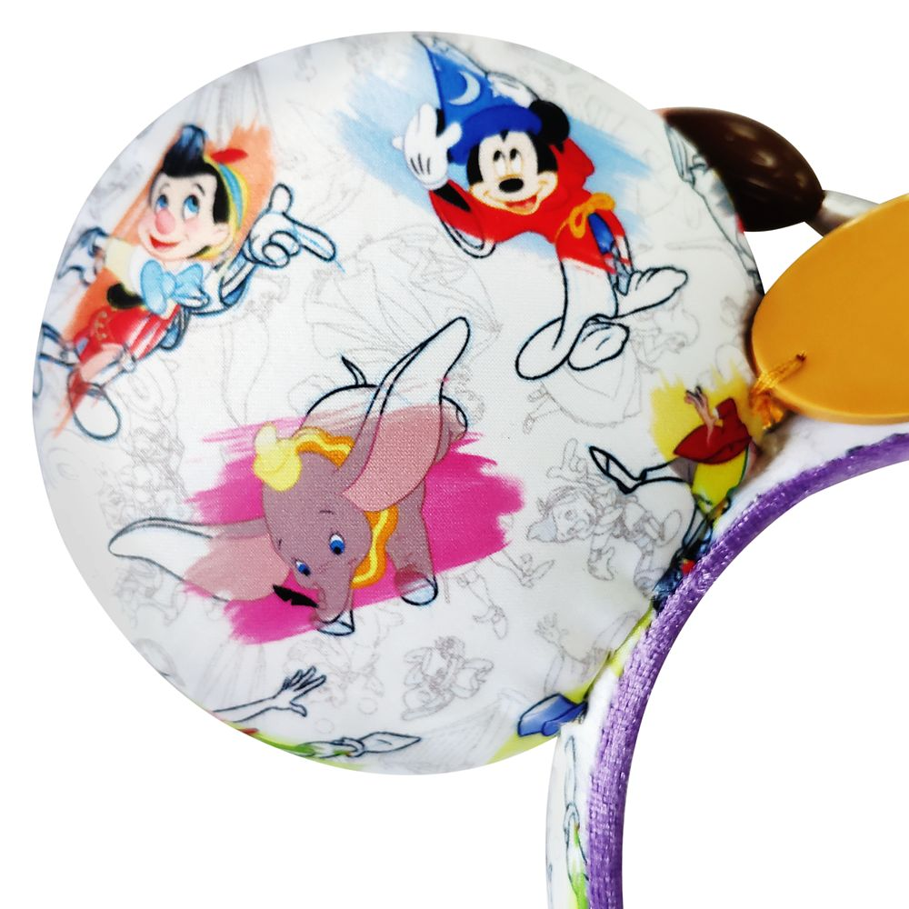 Disney Ink & Paint Ear Headband with Paintbrush Bow