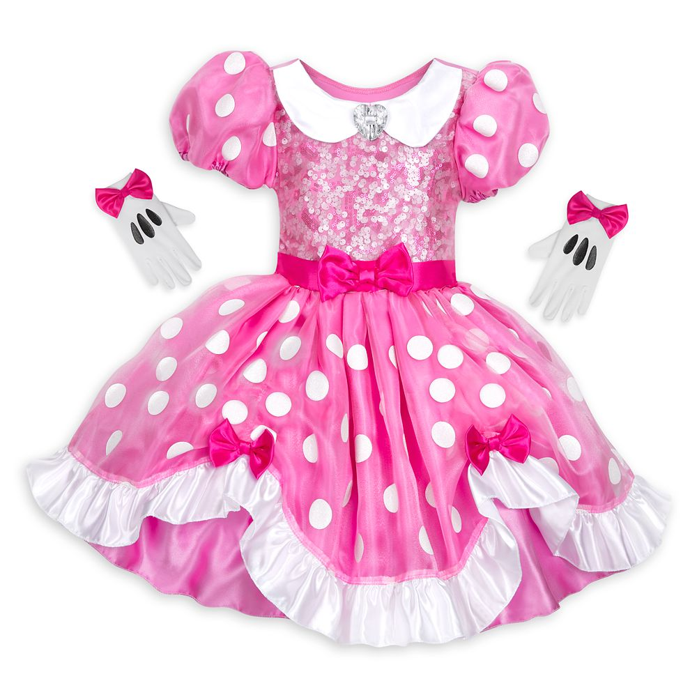 minnie mouse dress costume and bow set