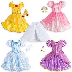Disney Princess Costume Wardrobe Set for Kids - 10-Pieces