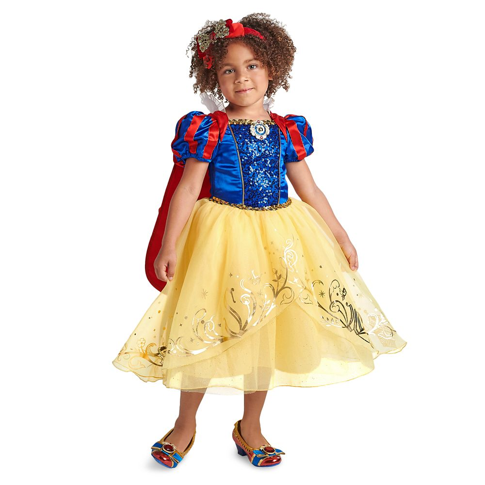 Disney Store Princess Snow White Costume Dress Gown Beautiful Details