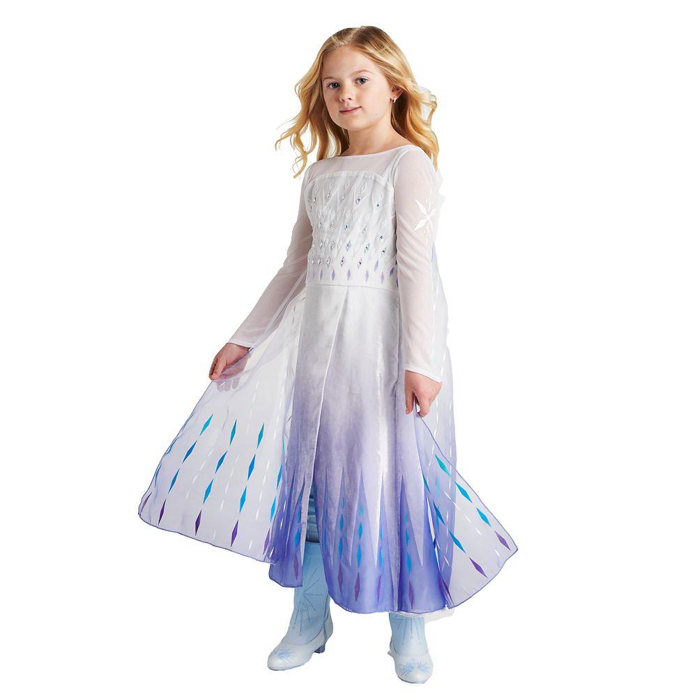 Snow Queen Elsa Deluxe Costume for Kids – Frozen 2