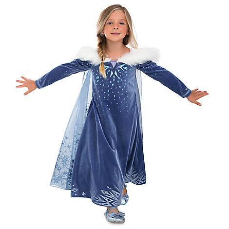Elsa Deluxe Costume for Kids - Olaf's Frozen Adventure