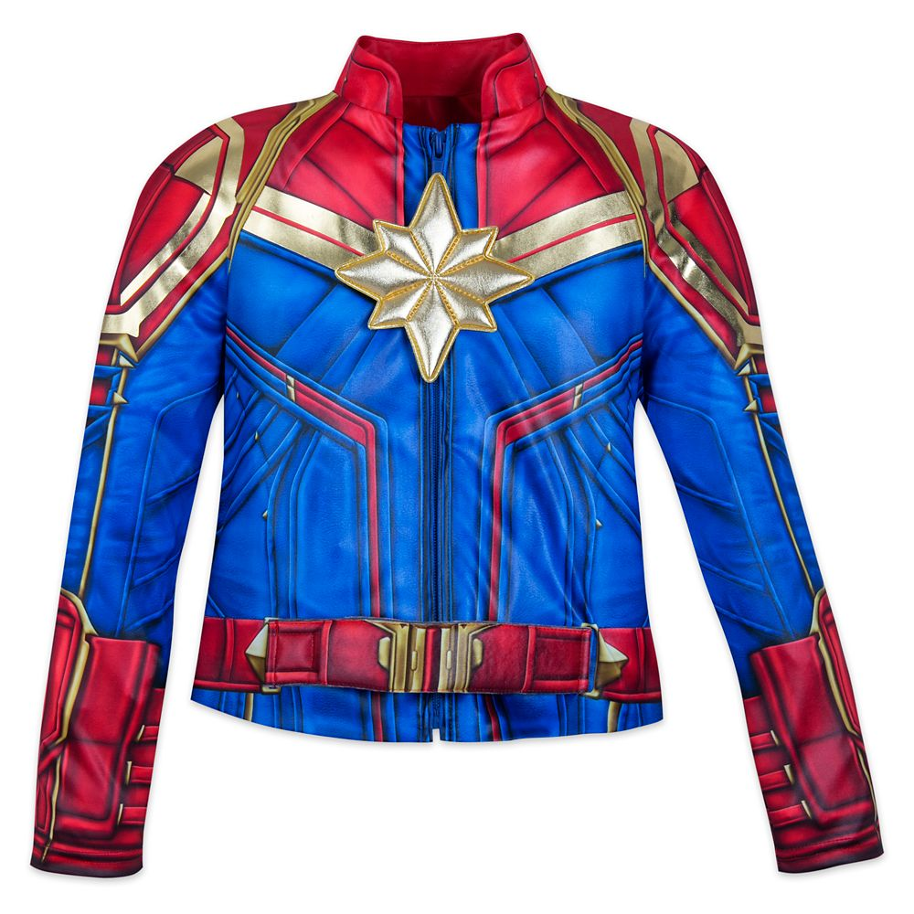 Captain Marvel Costume For Kids Shopdisney They will dress the part when they take a power nap in these captain marvel pj pals for baby. marvel s captain marvel costume for kids