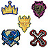 Descendants Embroidered Badges Set