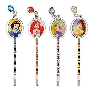 Disney Princess Jeweled Hair Pins
