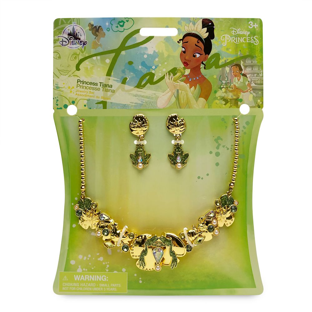 Tiana Costume Jewelry Set for Kids – The Princess and the Frog