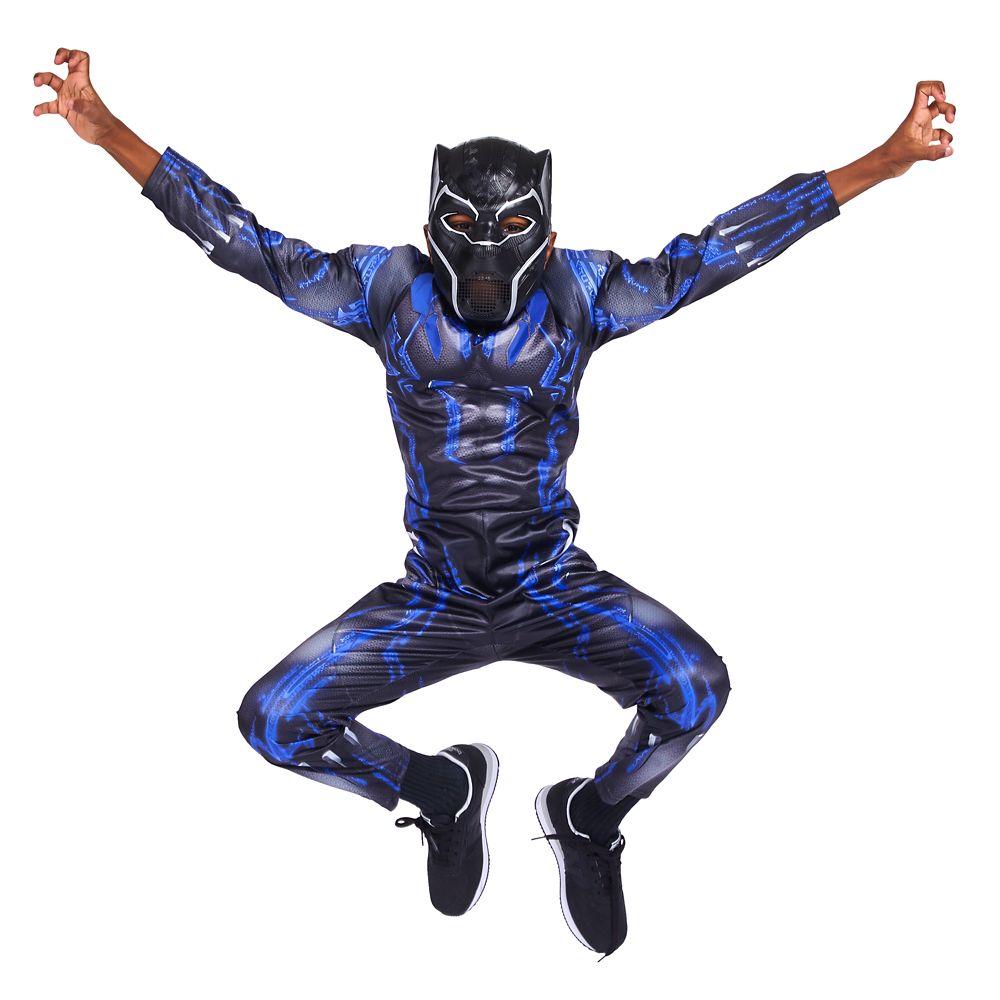 *Marvel Youth Boys/' Black Panther Superhero Light Up Sneakers Black//Blue