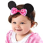 Minnie Mouse Ear Headband for Baby with Pink Bow