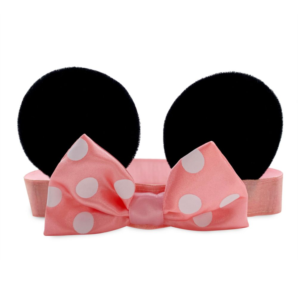 Minnie Mouse Ear Headband with Bow for Baby – Pink